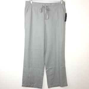 NWT Kim Rogers linen wide leg pants